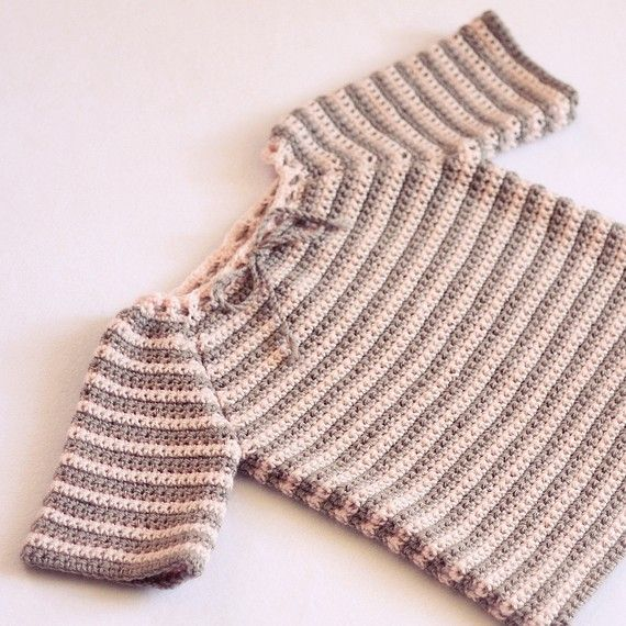 Crochet sweater PATTERN pdf file  Raglan Baby by monpetitviolon, $3.99