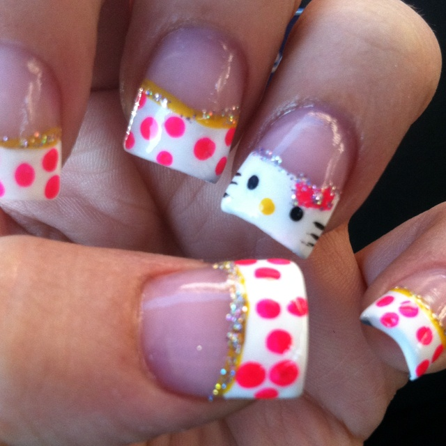 139 best Hello Kitty nails images on Pinterest | Hello kitty nails ...