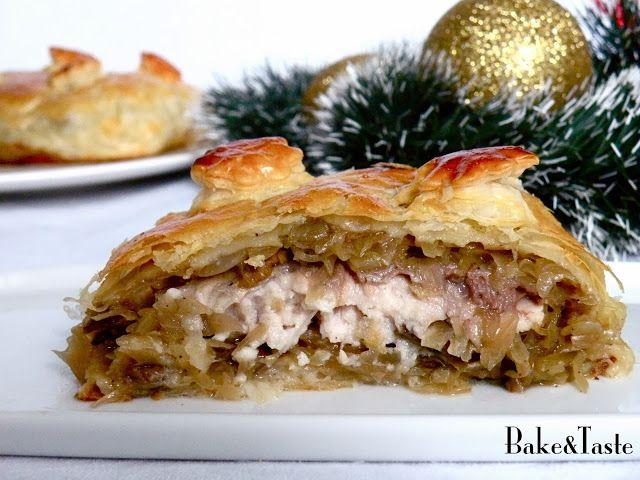 Bake&Taste: Kulebiak z karpiem, kapustą i grzybami