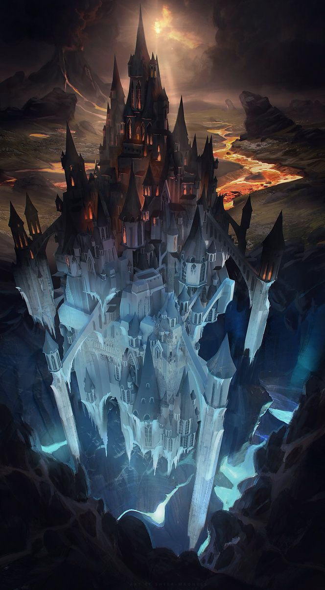 Artists and Title Unknown - please comment if you know this information. (MADE UP TITLE: Tall Castle of Hell)