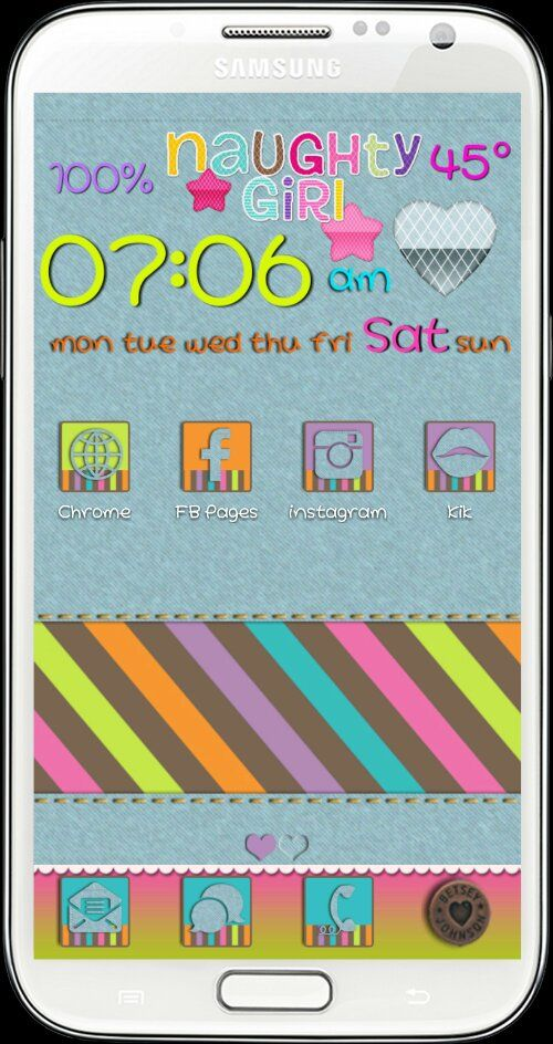 Jeans Go Theme and Android Homescreens