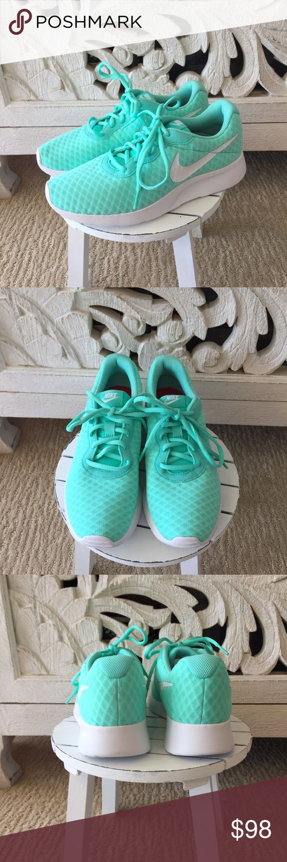 Tiffany Blue Nike Shoes Tiffany Blue Nike Shoes. Must have sneakers!!! Get them before they're gone, one left! Brand new. Nike Shoes Sneakers