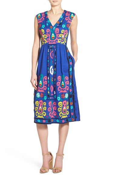Plenty by Tracy Reese Cross Back Midi Dress available at #Nordstrom