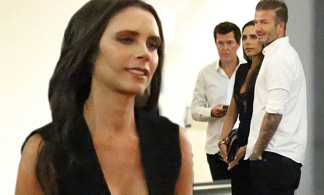 Victoria and David Beckham join Simon Fuller for double date