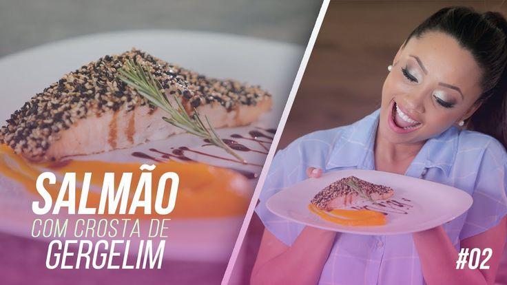 SALMÃO COM CROSTA DE GERGELIM, PURÊ DE MANGA E REDUÇÃO DE BALSÂMICO #02