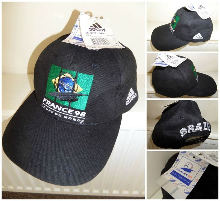 1998 ADIDAS Brazil World Cup Cap Hat SNAPBACK Brasil Ronaldo Football Retro Vtg #adidas #BaseballCap