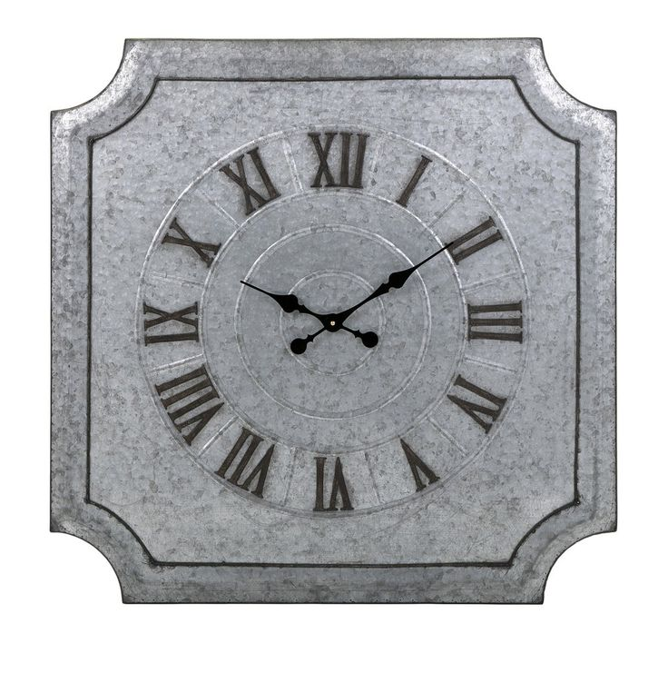 Destin Galvanized Wall Clock