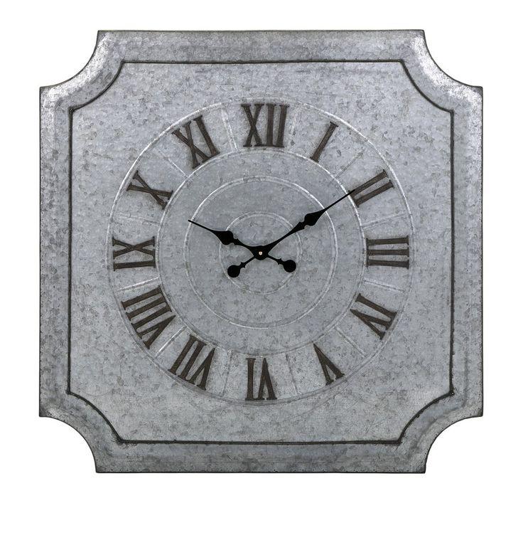 Destin Galvanized Wall Clock