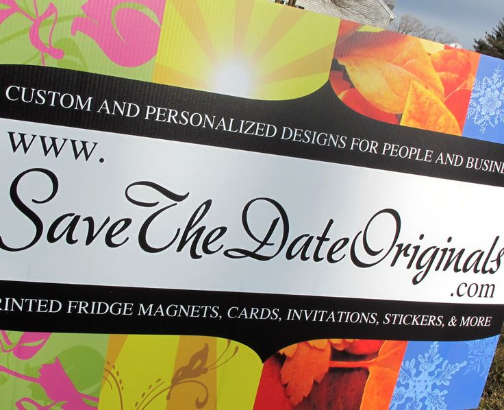 Big ol lawn sign for Save the Date Originals