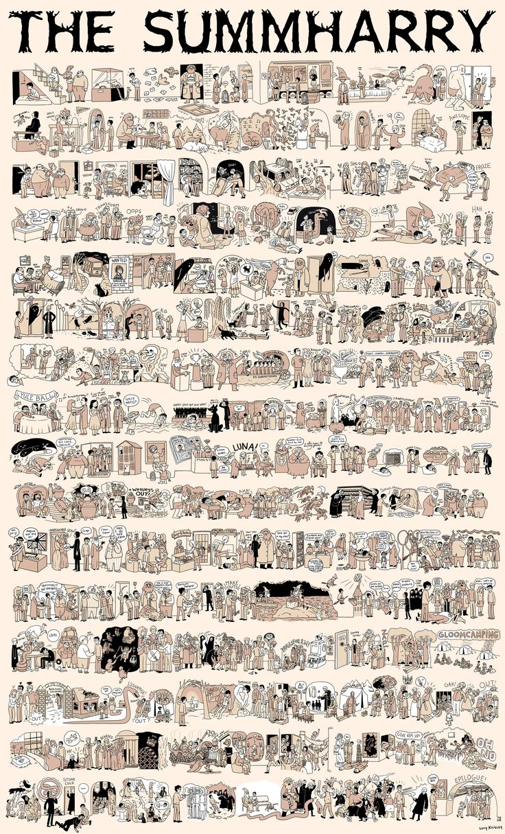 Here is all of Harry Potter summed up in one simple gigantic comic By Lucy Knisley #harrypotter