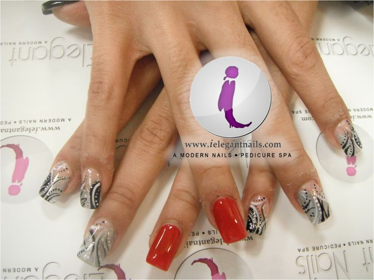 YES.free style nail art. | Abstract Nails designs | Pinterest