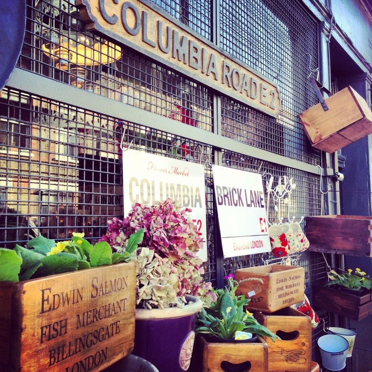 Columbia Road Market, London... My all time favorite place to be on a sunny Sunday afternoon.