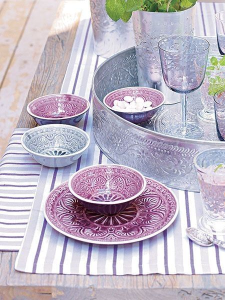 Love the tableware #moroccanmuse