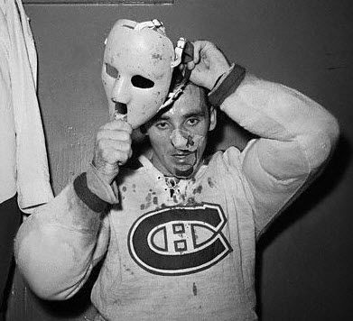 Jacques Plante, the origin of the goalie mask.