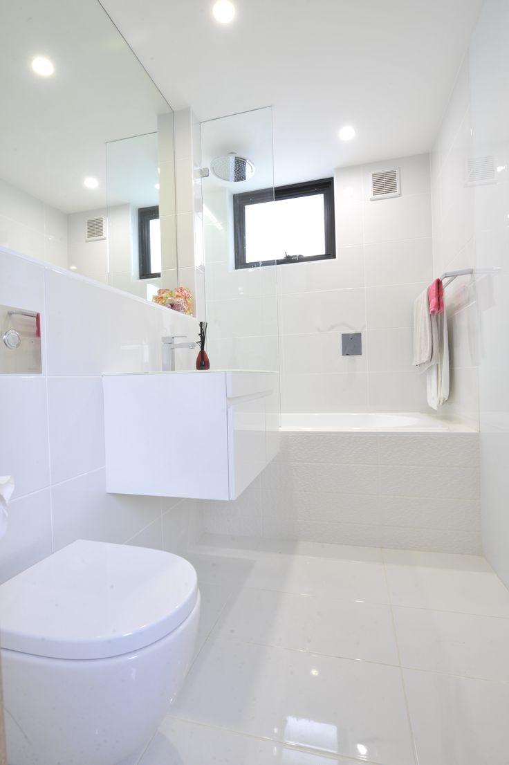 Kim & Matt Challenge #2 Wall & Floor Tile: BLANC Brilliant Gloss, Feature Tile (bath) Megalos White Convex