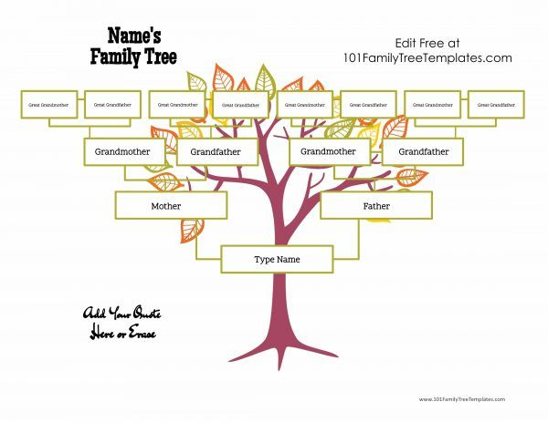 25 best Family Tree Templates images on Pinterest | Family tree ...