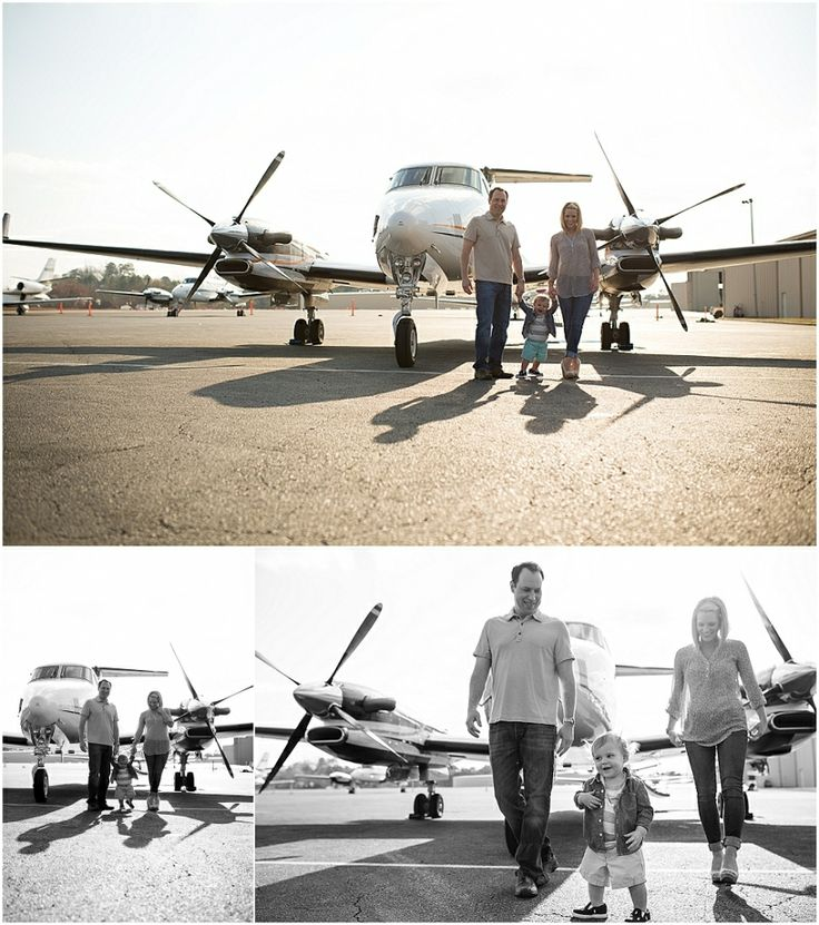 1 year session, PDK Airport Atlanta family photographer