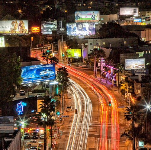 The Sunset Strip is a 1.5 mile stretch of Sunset Boulevard