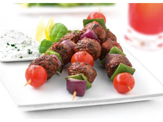 Quorn meatball style kebabs