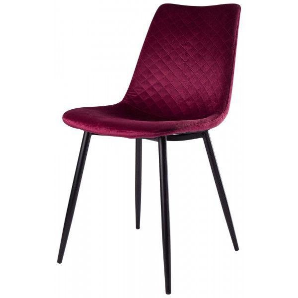 Bahne Interior velour quilt stol, lilla H: 85 cm. | Møbler