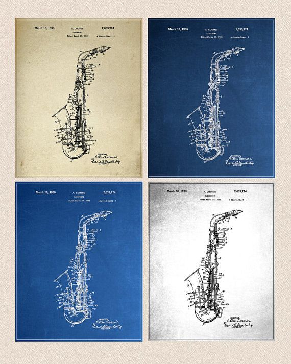 10 best blueprint saxophones images on pinterest saxophones saxophone art personalise background chalkboard blueprint aged paper a176 malvernweather Image collections