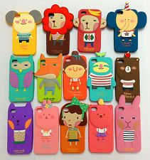 Cute Cartoon Hello Geeks Animals Rubber Silicone Protective Case iPhone 4G/4S/5G