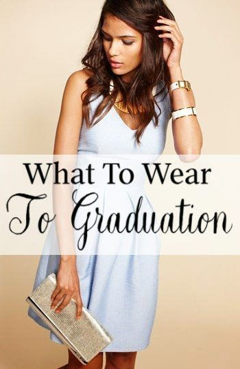 10 Cute ideas of what to wear to graduation! Either high school or college graduation dresses and shoes ideas.