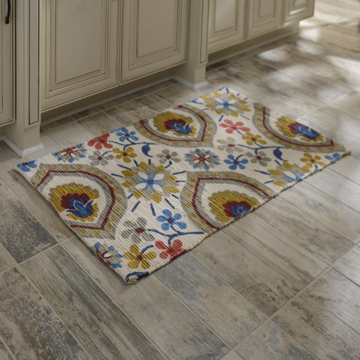 Chatham Blue And Gold Floral Scatter Rug