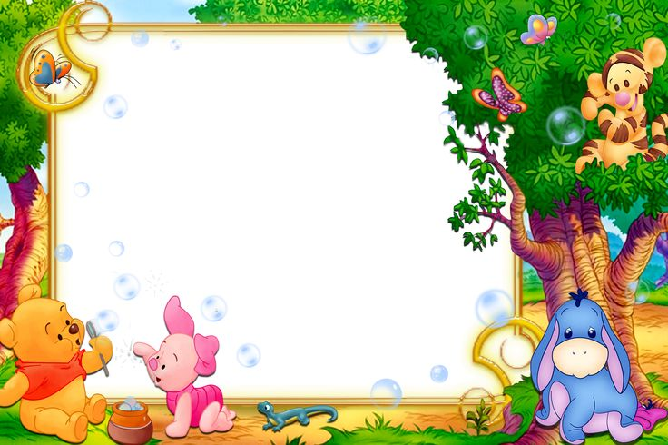 Kids Transparent Frame with Winnie the Pooh
