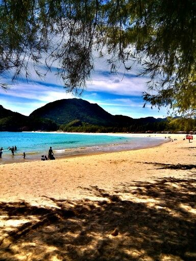A sunny day at Lampuuk Beach, Aceh