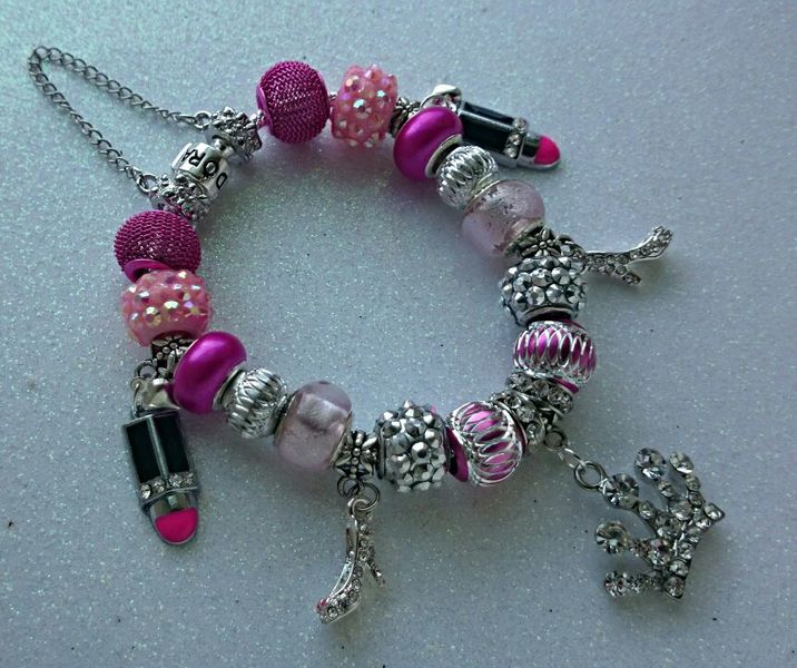 """Pretty Princess "" Pandora and .925 stamped Euro Bracelet"