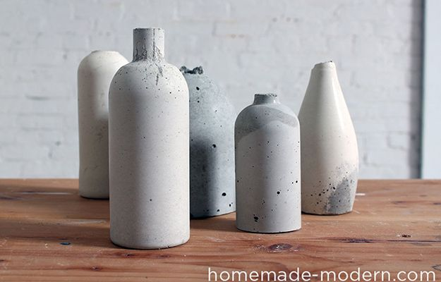 i must make these gorgeous concrete vases