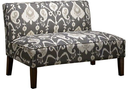 Shop For A Barrington Row Pewter Armless Chaise At Rooms
