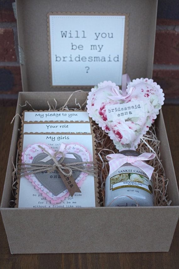 Wedding Gift Boxes For Bridesmaids : Bridesmaid Boxes on Pinterest Bridesmaid proposal box, Bridesmaid ...