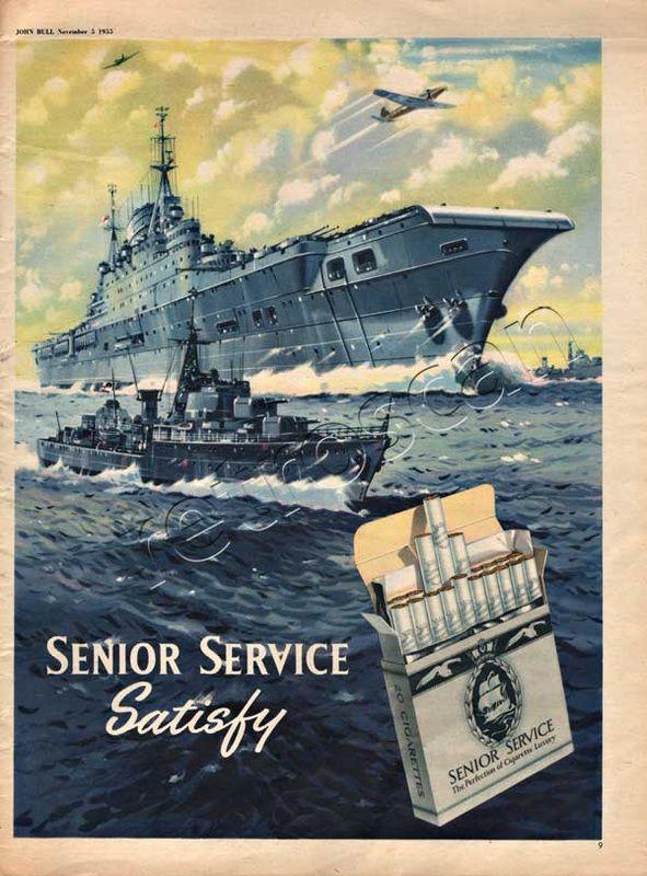1955 Senior Service Cigarettes
