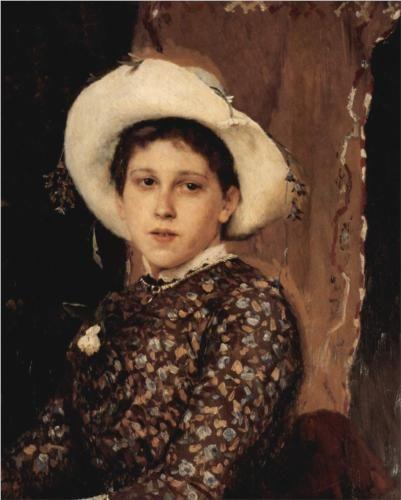Portrait of Tatjana A. Mamontowa - Viktor Vasnetsov - 1884