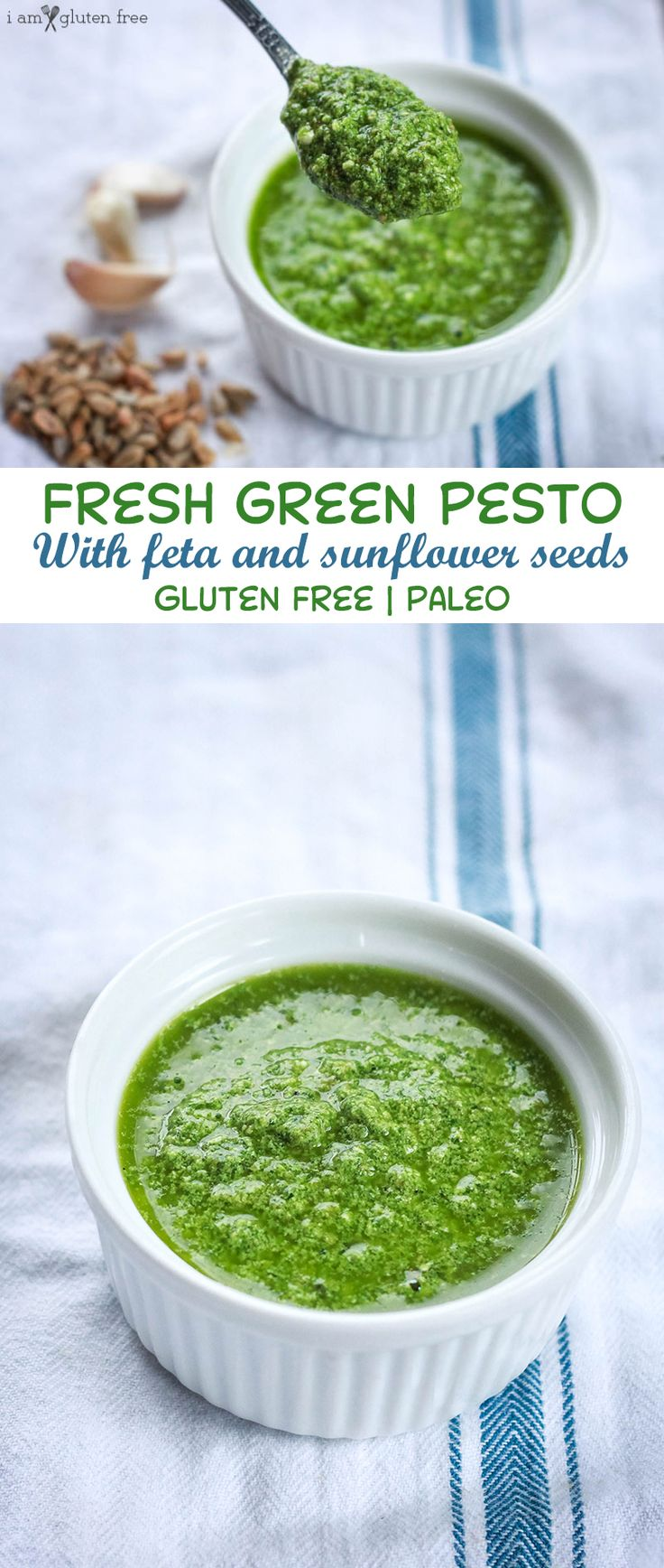 Gluten free and paleo pesto recipe! This is the perfect way to add some fresh…