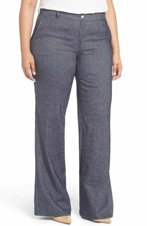 Persona by Marina Rinaldi Regale Stretch Denim Wide Leg Pants (Plus Size)