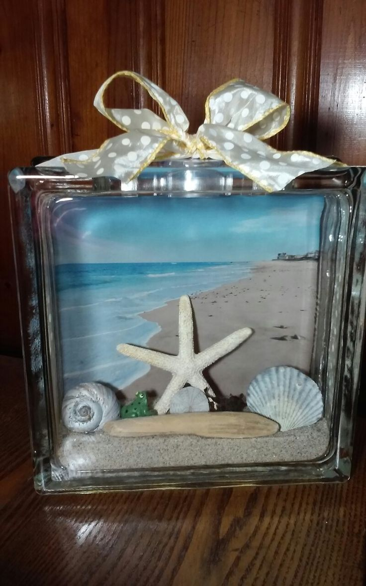 Glass block crafts projects - Rexhame Beach Glass Block More