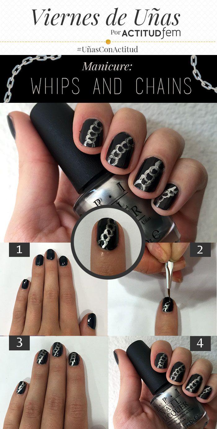 Diseño de uñas 50 sombras de Grey paso a paso   Decoración de Uñas - Manicura y Nail Art