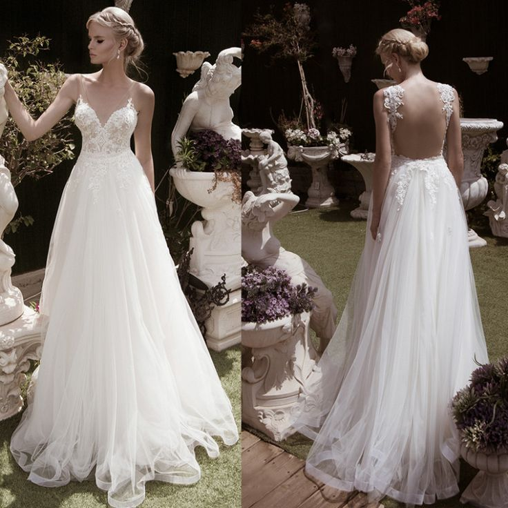 Wedding Gowns Champagne Tulle Skirts
