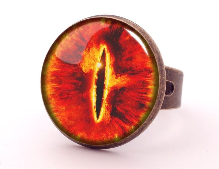 SAURON EYE Ring, Lotr Jewellery, 0189RB from EgginEgg by DaWanda.com