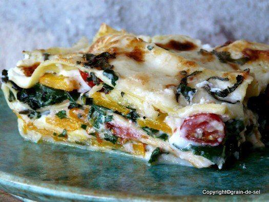 grain de sel - salzkorn: noch aus dem Garten: Kürbis-Mangold-Lasagne