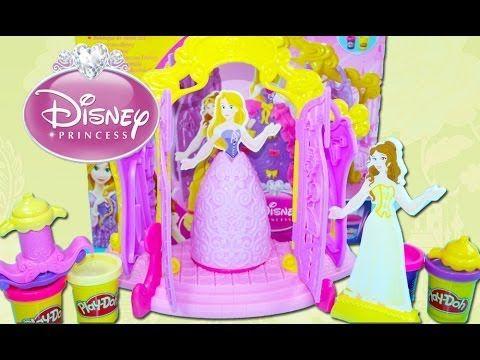 Principesse Disney Play Doh Come Fare Vestiti per le principesse, Giochi Disney – Peppa Pig Italiano