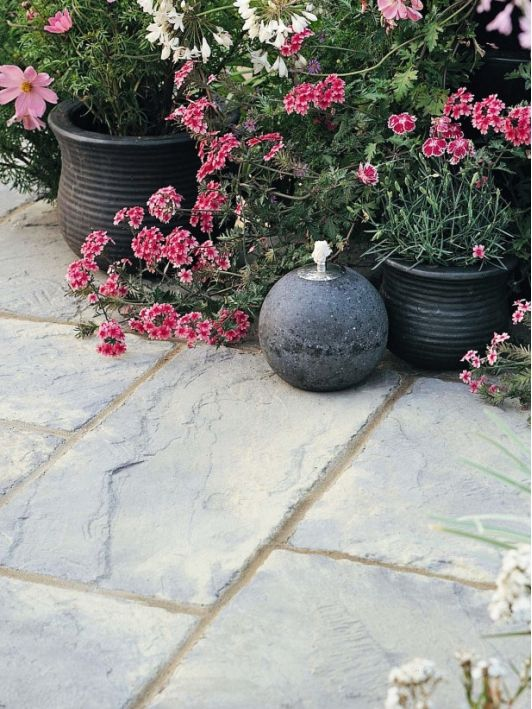 Reclaimed Stone Gives Period Look To Patio   Home And Garden Design Ideau0027s