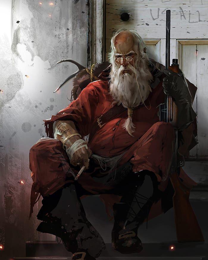 By Brenoch Adams Santaclaus Empireoffuture Robot Scifi Fantasy Art Digitalart Game War Amazing Style Xbox Digital Illustration Art Concept Art