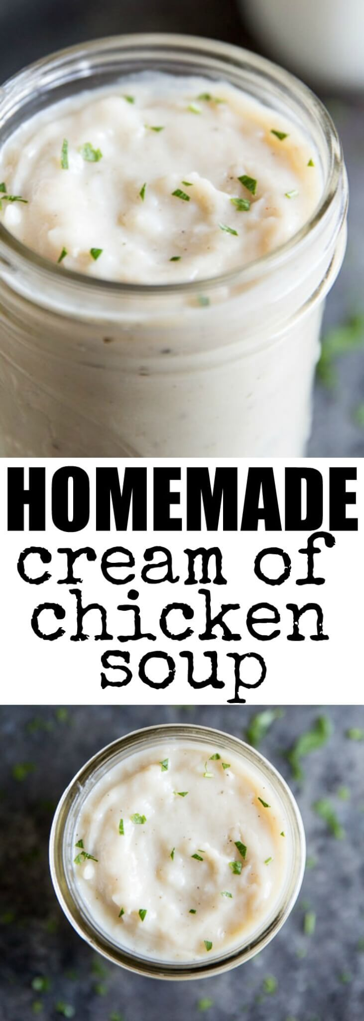 Instead of opening up a can of condensed soup, make this easy Homemade Cream of Chicken Soup with simple ingredients you probably already have on hand.