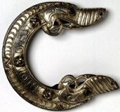A silver-gilt scabbard chape found at St Ninian's Isle, Shetland ©National Museums Scotland. Licensor www.scran.ac.uk.