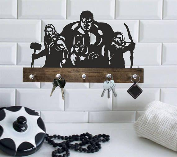 Wood hanger Avengers gifts for men/Avengers christmas ...