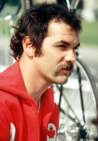 Marc Blouin du Canada participe à une épreuve de cyclisme aux Jeux olympiques de Montréal de 1976. (Photo PC/AOC)